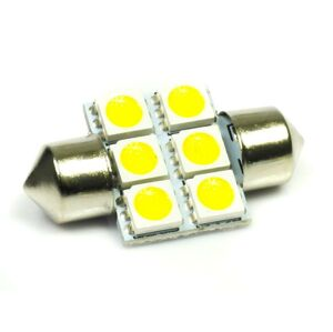 Interlook LED auto žárovka 12V LED C5W 6SMD5050 31mm Teplá bílá